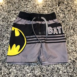 Boys Batman Swim Trunks - 12-18 Months NWOT